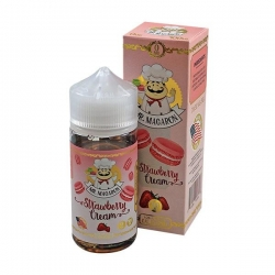 Lichid 80ml Mr Macaron - Strawberry Cream 0mg
