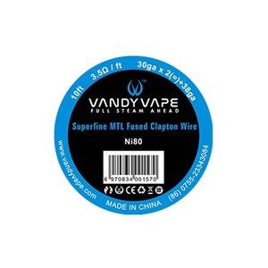 Vandyvape Superfine MTL Fused Clapton Ni80 Wire 30ga*2+38ga 9m