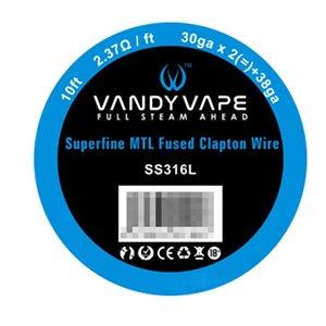 Sarma Vandyvape Superfine SS316l MTL Fused Clapton
