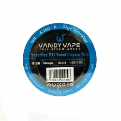 Vandyvape Superfine MTL Fused Clapton Wire Ni80(32GA*2*38GA,5.35ohm)(VW.0046) 3m