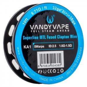 Sarma Superfine MTL Vandy Vape Fused Clapton KA1 Wire 32GA*2+38GA 3m