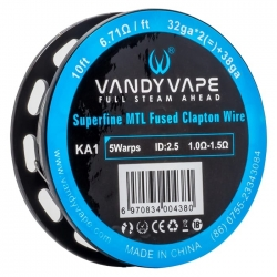 Vandyvape Superfine MTL Fused Clapton Wire KA1 (32GA*2*38GA 6.7ohm)(VW.0045) 3m