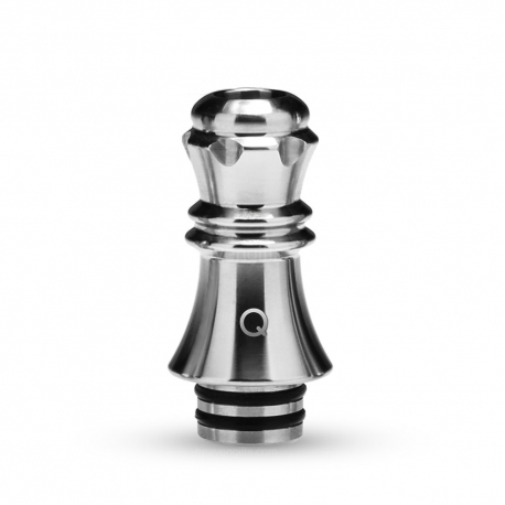KIZOKU Chess Series 510 Drip Tip 1pc (Silver,Queen)