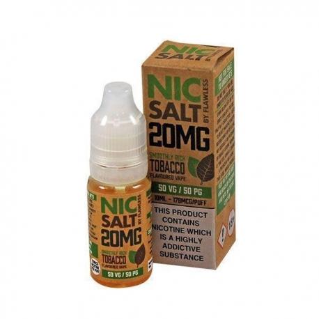 Lichid Smooth Rich Tobacco by Flawless Nic Salt, 10ml, 20mg