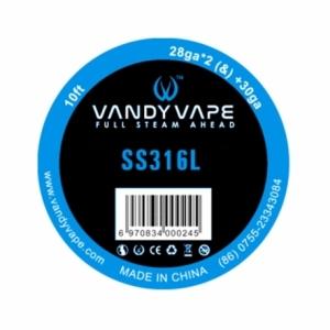 Sarma Vandyvape Fused Clapton SS316L Wire 28ga*2+30ga 3m