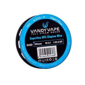 Sarma Superfine MTL Vandy Vape Clapton Ni80 Wire 30GA+38GA 3m