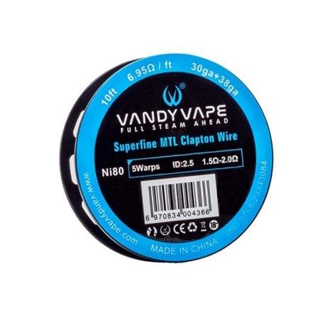Vandyvape Superfine MTL Clapton Wire NI80(30GA*38GA,6.95ohm)(VW.0043) 3m