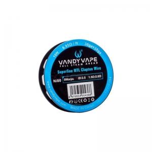 Vandyvape Superfine MTL Clapton Wire SS316L(30GA*38GA,5.48ohm)(VW.0049) 3m