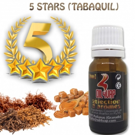 Aroma Oil4Vap Tabaco Rubio 5 Stars 10ml