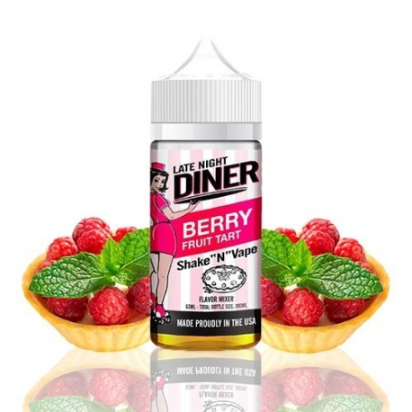Lichid Late Night Diner Berry Fruit Tart 50ml Shake and Vape