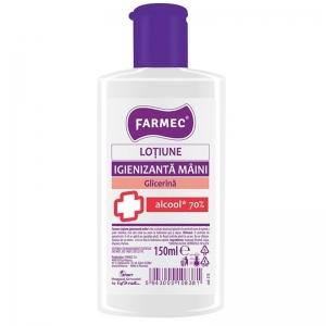 Loțiune Igienizantă Mâini Farmec 70% Alcool si Glicerina 150 ml