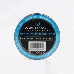 Sarma Superfine MTL Vandy Vape Fused Clapton Ni80 Wire 32GA*2+38GA 3m