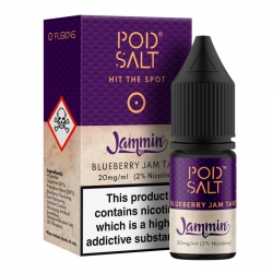 Lichid Jammin Blueberry Jam Tart Pod Salt Fusion Series 10ml NicSalt 20mg/ml