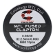 Set Rezistente Coilology MTL Fused Clapton Ni80 0.8ohm 10buc
