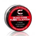Set Rezistente Quad-Core Fused Clapton Coilology 4*28ga/40ga 3mm Ni80 0.28ohm 10buc