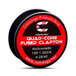 Rola Sarma Quad-Core Fused Clapton Coilology 4*28ga/40ga 10ft (3m) Ni80 1.30ohm/FT
