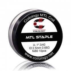 Set Rezistente Coilology MTL Staple Ni80 0.68ohm 10buc