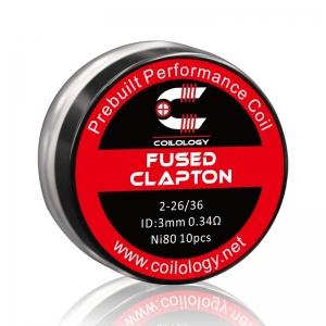 Coilology Fused Clapton Prebuilt Coil 26ga*2+36ga, 0.34ohm, 10buc