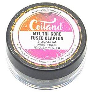 Set Rezistente Tricore Fused Clapton NI80 Coiland 0.4ohm MTL