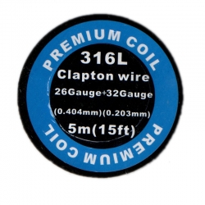316L Clapton wire 32GA*26GA 5M