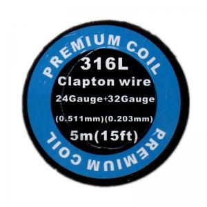 316L Clapton wire 32GA*24GA (0.2x0.5) 5M
