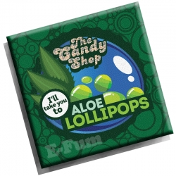 Aroma Aloe Lollipops Big Mouth THE CANDY SHOP 10 ML