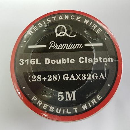 Double SS 316l parallel Clapton 28ga*28ga+32ga 5m
