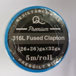 316L Fused twisted Clapton (26ga+26ga)*32ga 5m