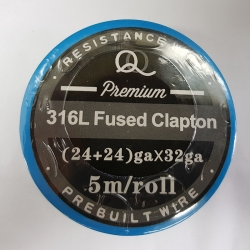 316L Fused twisted Clapton (24ga+24ga)*32ga 5m