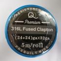 316L Fused twisted Clapton (24ga+24ga)*32ga 5m